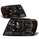 (US) Jeep Grand Cherokee Headlight Lamps With Amber Reflector Kit (Smoke Lens) - WJ
