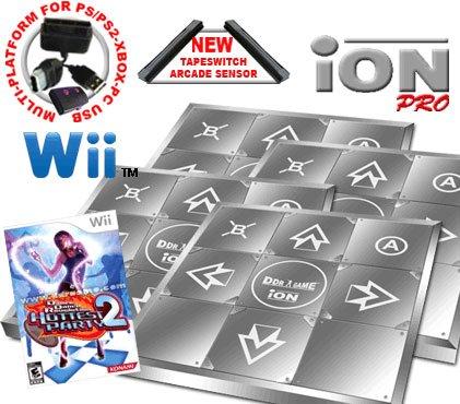 4 x Wii Dance Dance Revolution Limited Edition iON Pro Metal Dance Pad + Dance Dance Revolution DDR