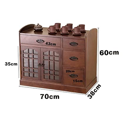 FPigSHS Sideboard Tea Cabinet Tea Table Cabinet Tea Storage Cabinet Simple  And Exquisite Storage File Savings
