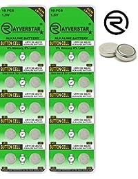 Rayverstar LR1130 AG10 1.5V Alkaline, 20 Batteries Fits: L1131, 189, 389, 390, 534, 554, 603 (Full List Below)