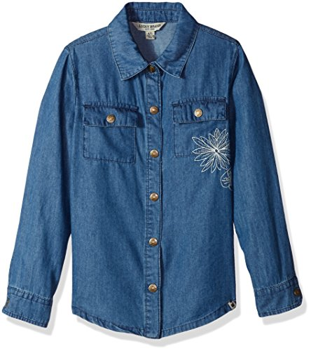 Lucky Brand Little Girls' Chambray Shirt, Chloe Lucy Wash, 6