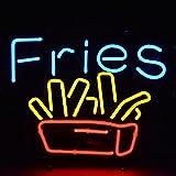 Urby™ 17''x14'' Fries Food Custom Handmade Glass Tube Neon Light Sign 3-Year Warranty-Unique Artwork! UA33