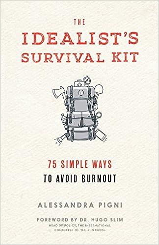 Idealists Survival Kit The 75 Simple Ways To Avoid Burnout Alessandra Pigni 9781941529348 Amazon Books