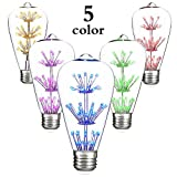 h21 bulb - Yellow Red Blue Yellow and Pink LED Bulb, ST64 Starry Vintage Edison LED Light Bulb,1.6 Watt 120 Volt E26 Medium Base Bulb for Indoor Outdoor Decorative Lighting, LED Decorative Light Bulb(pack of 1)