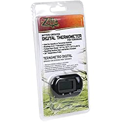 Zilla Reptile Terrarium Digital Thermometer with Probe by Zilla