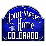"MLB Colorado Rockies 11-by-9 Inch Wood ""Home Sweet Home"" Sign"