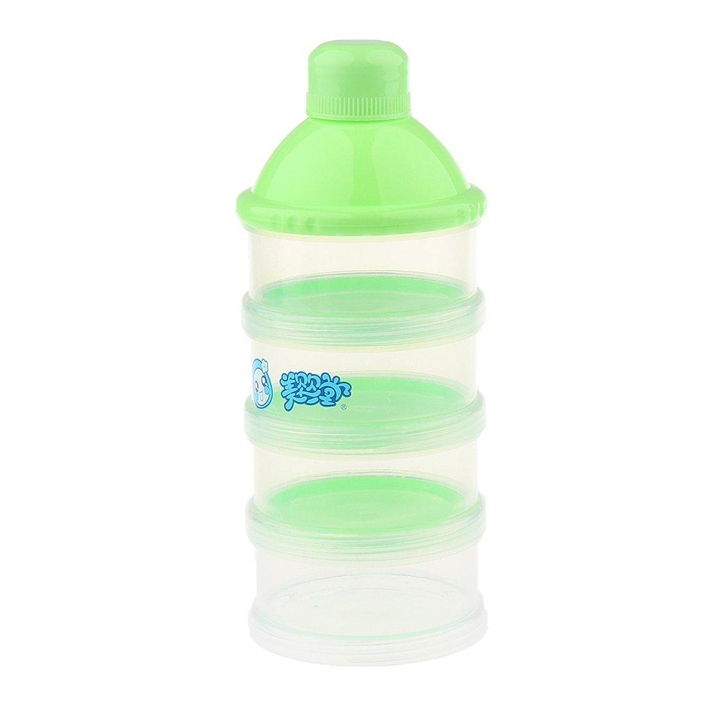 MagiDeal Formula Dispenser, Lock Stackable BPA Free Milk Powder Dispenser & Snack Storage Container - 4 feeds, No Powder Leakage - Pink, as described