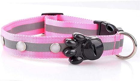 HPPLCollar para Gatos Glow Gem Light LED Collar para Perros para ...