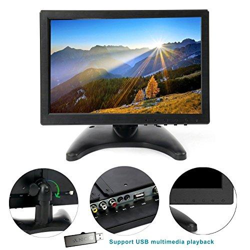 10.1'' HD USB Multi-media Player IPS LCD 1280x800 HDMI AV BNC VGA TFT LED Monitor by YaeCCC