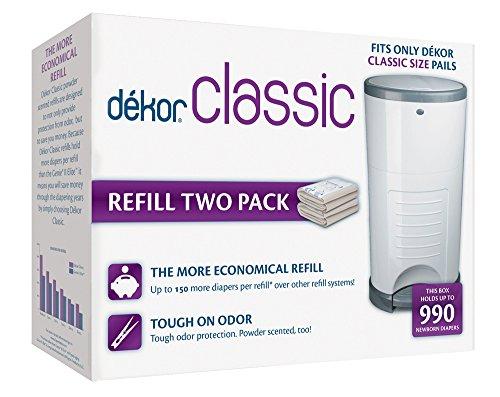 Dekor classic refill two count for Dekor classic diaper pail refills