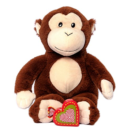My Baby's Heartbeat Bear - Monkey Stuffed Animal w/ a 20 sec. Voice Recorder Perfect First Pregnancy Gift - Lil 8