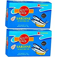 Golden Prize Canned Sardine in Natural Oil, 125g (Pack of 2)