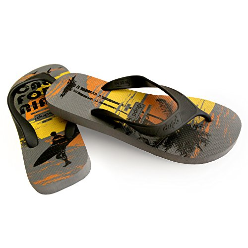 Dupe Ciabatta Sea Pool Man Con Estampado De California, Gris, Negro