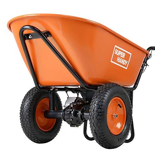 SuperHandy Ultra Duty Electric Powered Wheelbarrow Utility Cart 24V DC