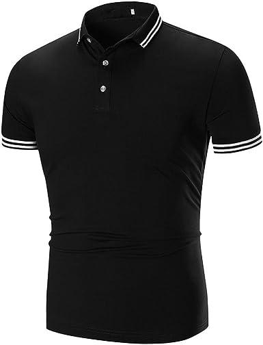 Camiseta para Hombre, Camisas Hombre Camisas de Moda de Verano para Hombres Camiseta de Manga Corta Deportivas Casual Tops Blusa (3XL, Negro): Amazon.es: Ropa y accesorios