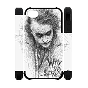The Batman Joker Why So Serious Image Snap On Hard Plastic Iphone 4 4S Case