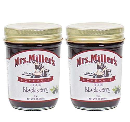 Mrs. Miller's AMISH Homemade SEEDLESS BLACKBERRY Jam 9 Ounces - 2 -