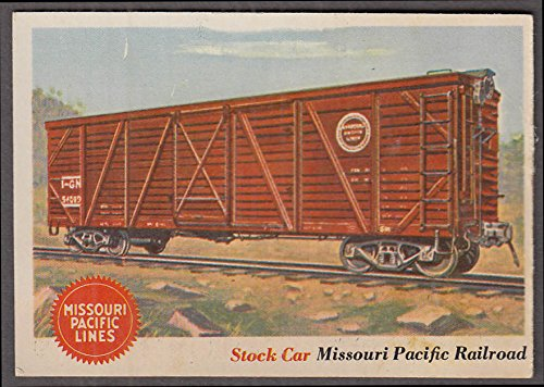 Pacific Railroad Stock (1955 Topps Rails & Sails #11 Missouri Pacific Railroad Stock Car)