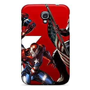 Awesome Iron Patriot Flip Case With Fashion Design For Galaxy S4