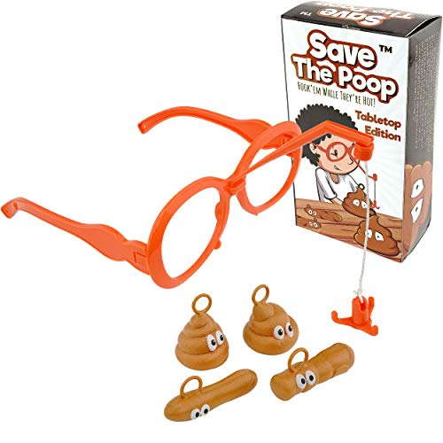 Save The Poop!  Get The Hilarious Poop Game Perfect White Elephant Gag Gift for Poop Emoji Lovers - Poop Games and Toys