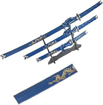 Amazon.com: Isaazon - Juego de 3 espadas japonesas Samurai ...