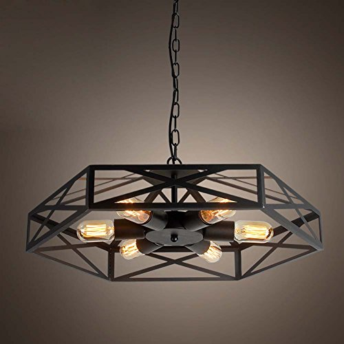 Flush Semi 24 - Industrial Adjustable Vintage Barn Metal Hanging Pendant Light - LITFAD 24