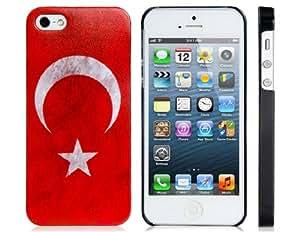 Conseguir Turkish Flag Print Matte Plastic Case for iPhone 5