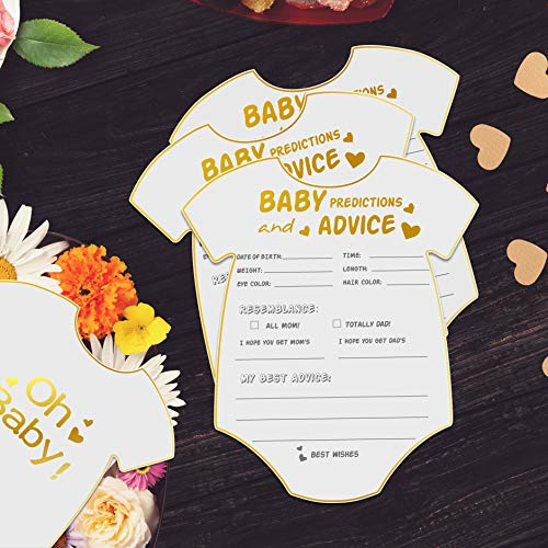 50 Advice and Prediction Cards for Baby Shower Game,Gender Neutral Boy or Girl,Fun Baby Shower Games Favors,New Parent Message Advice Book,New Mom & Dad Card or Mommy & Daddy To Be - 5x6inch Photo #7