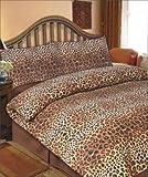 Viceroybedding Animal Print, Leopard Print, Double Duvet Cover Set