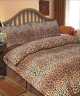 Dreamscene Leopard Duvet Cover Set, Chocolate, King: Amazon.co.uk ... : leopard quilt cover set - Adamdwight.com