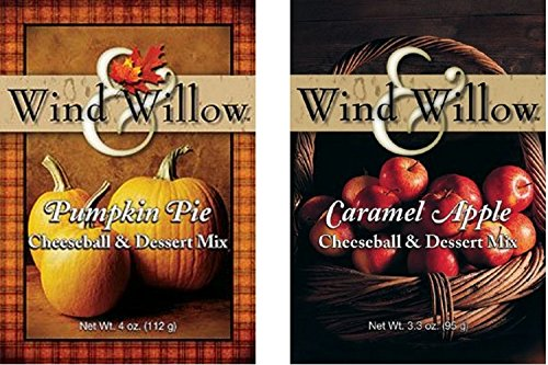 Wind & Willow Sweet Autumn/Fall Cheeseball and Dessert Mix Bundle - Caramel Apple & Pumpkin Pie