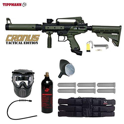 Cheap MAddog Tippmann Cronus Tactical Paintball Titanium Paintball Gun Package – Black/Olive