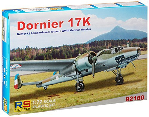RS models 1/72 Dornier 17K German twin-engine bomber Plastic (Bomber Engine Twin)