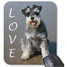 Miniature Schnauzer Puppy Dog Mouse Mat Non-Slip Rubber Mouse Pad