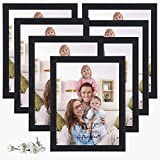 Picture Frames 8x10 Photo Frame Set for Wall or Tabletop, Black, Pack of 7