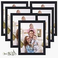 Giftgarden 8x10 Picture Frame Multi Photo Frames Juego de pared o pantalla de mesa, negro, paquete de 7