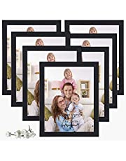Giftgarden 8x10 Picture Frame Multi Photo Frames Set for Wall or Tabletop Display, 7 Pack, Black