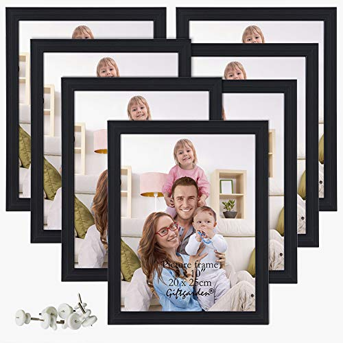 Giftgarden 8x10 Picture Frame Multi Photo Frames Set Wall or Tabletop Display, Black, 7 Pack]()