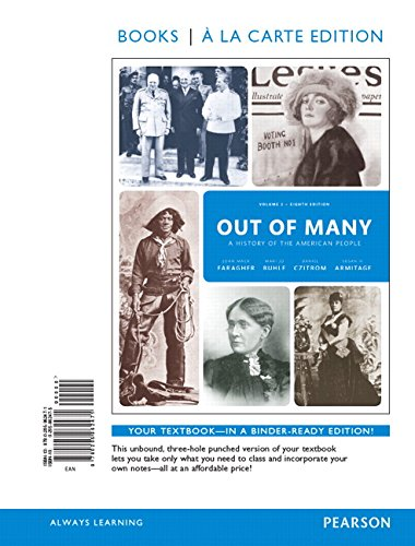 Out of Many: A History of the American People, Volume 2, Books a la Carte Edition Plus REVEL -- Access Card Package (8th