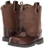 Baby Deer Round Toe Western Boot, Brown, 3