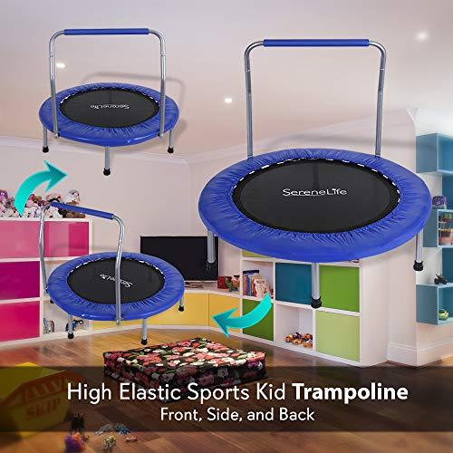 SereneLife Portable Foldable Trampoline In-Home Mini Rebounder, Exercise Version - SLSPT365