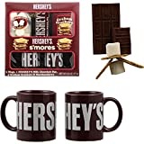 Hershey's Smores Holiday Gift Set with Two Ceramic Mugs, Hersheys Bar and Marshmallows ...