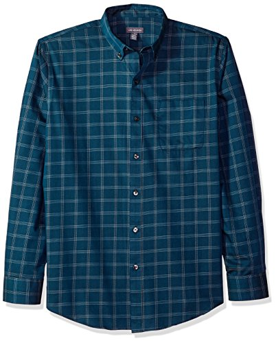 Heusen Wrinkle Van Free Shirt (Van Heusen Men's Wrinkle Free Twill Long Sleeve Button Down Shirt, Turquoise Seabed, Medium)