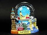 3D Snow Globe (Medium)- London Collage, Detailing London Landmarks Big Ben, Tower Bridge etc.