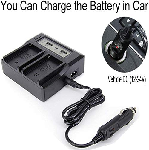 HDR-UX1 Handycam Camcorder HDR-SR1 HVR-A1U Dual Channel Battery Charger for Sony HVR-A1 HDR-HC1