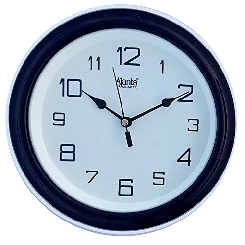 Ajanta Plastic Wall Clock (20.5 cm x 20.5 cm x 3.5 cm, Blue)