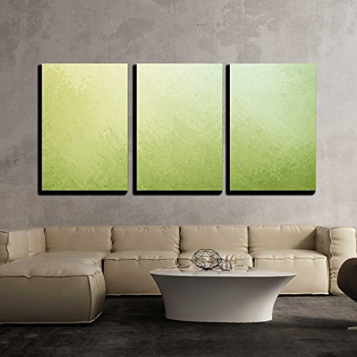 wall26 - 3 Piece Canvas Wall Art - Classy Light Green Background with Pale White Center Spot and Darker Green Grunge Design - Modern Home Decor Stretched and Framed Ready to Hang - 24