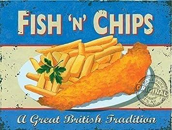 Anglais de la nourriture repas Métal Cuisine Mur Signe Cadeau