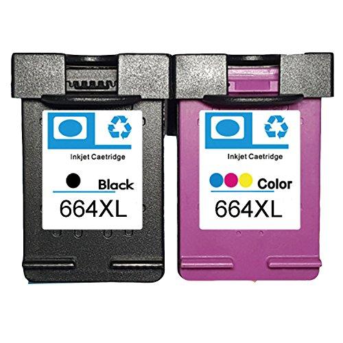 LOVEINK Combo Kit 2 Pack 664XL Ink Cartridge for Deskjet Ink Advantage 1115 2136 3636 3836 (1 Black/ 1 - 17 Tri Ink Colour