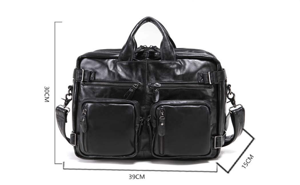 DUXX Men Leather Shoulder Bag IPAD Business Messenger Bag Single-Shoulder Messenger Bag
